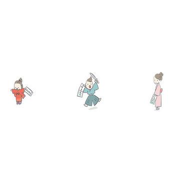 【フリー素材】七五三のイラスト| Season Stock Iroha