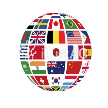 国旗地球 立体イラスト/無料イラストなら「イラストAC」