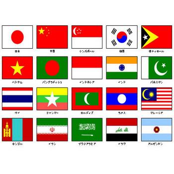 国旗(パワーポイントフリー素材)
