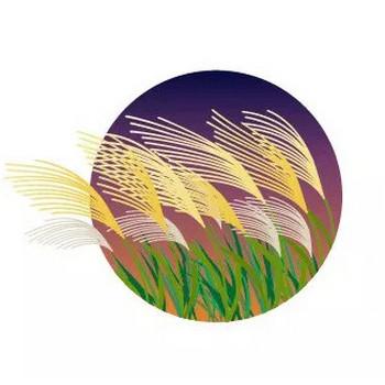 秋の七草のひとつ、ススキのイラスト | 【無料配布】イラレ/イラストレーター/ベクトル パスデータ保管庫【ai・eps ベクター素材】