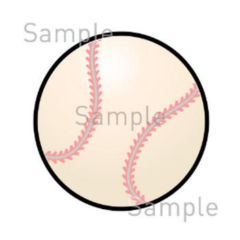 野球ボールの無料イラスト素材 登録不要のイラストぱーく
