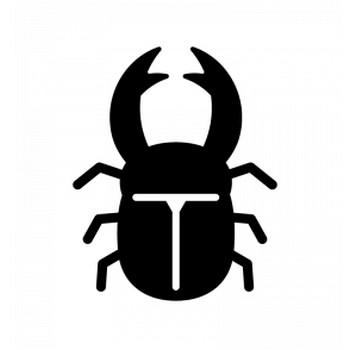 クワガタのシルエット | 無料のAi・PNG白黒シルエットイラスト