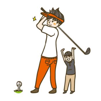 ゴルフ | イラストマン人物フリーイラスト素材集