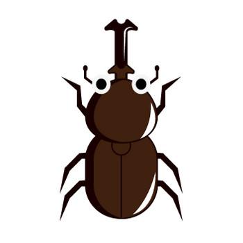 [フリーイラスト] 6種類のカブトムシのセットでアハ体験 - GAHAG | 著作権フリー写真・イラスト素材集
