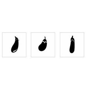 ナス|シルエット イラストの無料ダウンロードサイト「シルエットAC」