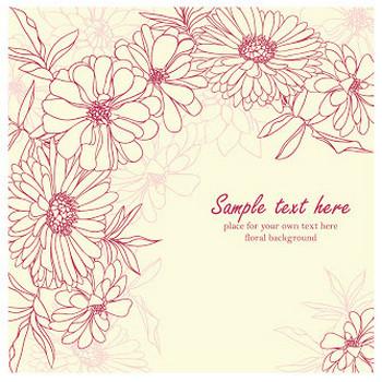 菊の花びらを線画で描いた背景 Fine line art chrysanthemum petals background イラスト素材 | ai eps イラストレーター