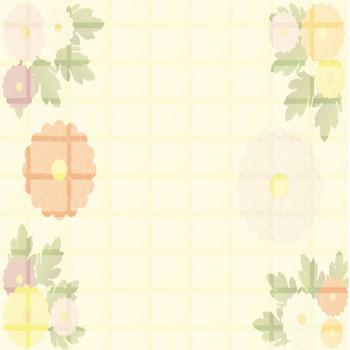 [フリーイラスト] 菊の花の和柄背景でアハ体験 - GAHAG | 著作権フリー写真・イラスト素材集