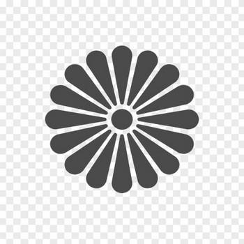 菊の紋章1 | アイコン素材ダウンロードサイト「icooon-mono」 | 商用利用可能なアイコン素材が無料(フリー)ダウンロードできるサイト
