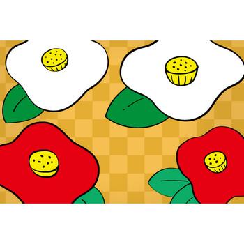 椿の花の絵詰め合わせ – クリスマス・ハロウィン、お正月イラストEVENTs Design