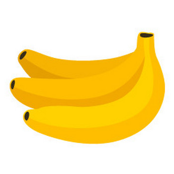 バナナ - イラスト素材 | 商用利用可のベクターイラスト素材集「ピクト缶」