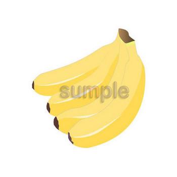 0085シンプル版バナナ/フリーイラストのダウンロード・イラスト7