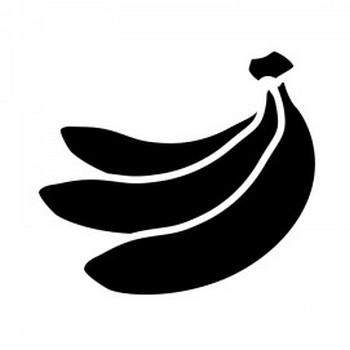 バナナのシルエット | 無料のAi・PNG白黒シルエットイラスト