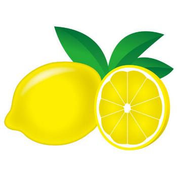 [無料イラスト] レモンと葉 - パブリックドメインQ:著作権フリー画像素材集