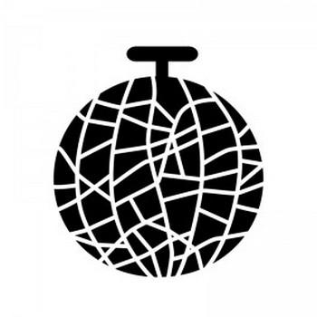 メロンのシルエット | 無料のAi・PNG白黒シルエットイラスト