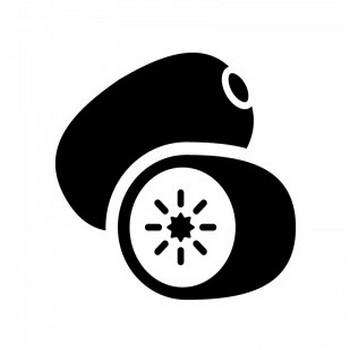 キウイフルーツのシルエット | 無料のAi・PNG白黒シルエットイラスト