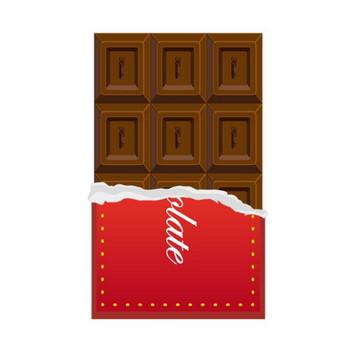 【チョコ】紙つき フリー イラスト【チョコレート】 | くまっけフリーイラスト