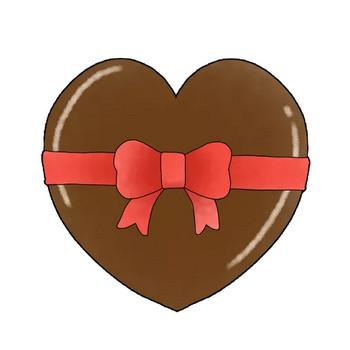 リボンが付いたチョコレートのかわいいイラスト画像素材(無料 フリー)