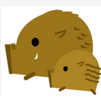 猪(イノシシ) - パブリックドメインQ:著作権フリー画像素材集