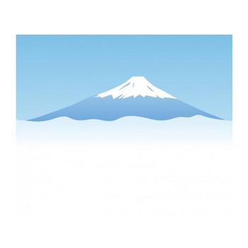 雲海と富士山のイラスト素材 | イラスト無料・かわいいテンプレート