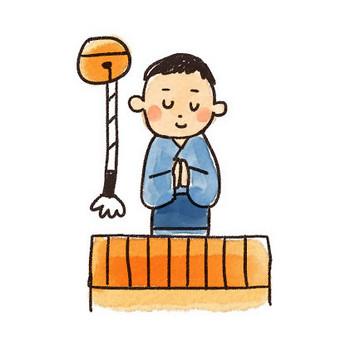初詣・お参りのイラスト(お正月): ゆるかわいい無料イラスト素材集