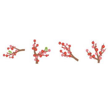梅 のタグのイラスト | 無料のフリー素材 イラストエイト