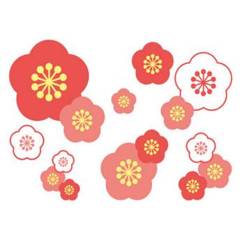 [無料イラスト] 梅の背景 - パブリックドメインQ:著作権フリー画像素材集