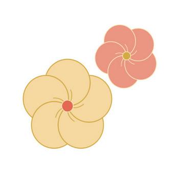 「和の梅の花」 - 無料イラスト愛