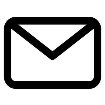 白黒のメールアイコンのイラスト | 無料のフリー素材 イラストエイト