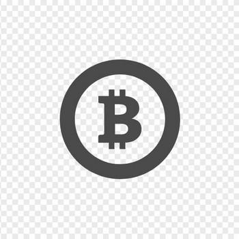 コインタイプのビットコインアイコン   アイコン素材ダウンロードサイト「icooon-mono」   商用利用可能なアイコン素材が無料(フリー)ダウンロードできるサイト