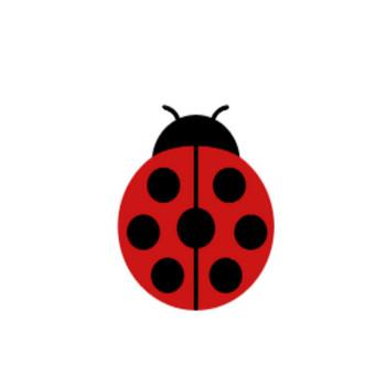 てんとう虫 アイコン | フリー素材 ブログ