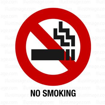 禁煙マークの無料イラスト素材|イラストイメージ