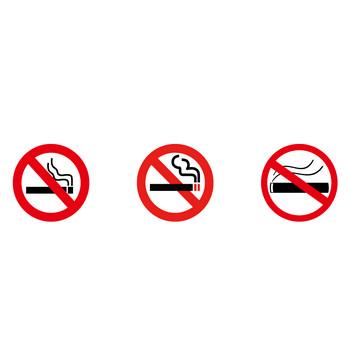 [フリーイラスト] 10種類の禁煙マークのセットでアハ体験 - GAHAG | 著作権フリー写真・イラスト素材集