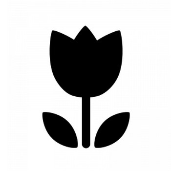 チューリップのシルエット | 無料のAi・PNG白黒シルエットイラスト
