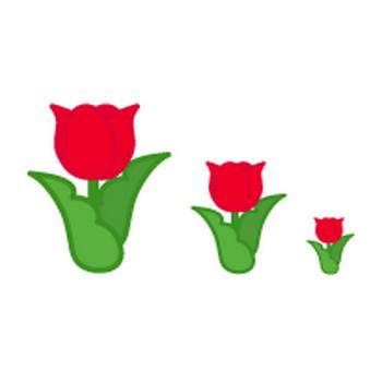 春(チューリップ/つくし)のイラスト-フリー素材・無料イラスト「ふぁんし~・ぱ~つ・しょっぷ」