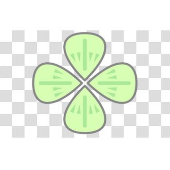 【塗れる】四つ葉のクローバーのフリーイラスト素材