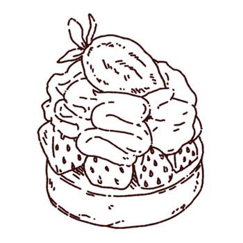 苺タルトケーキのイラスト | illust Recipe