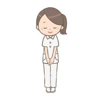 看護師がお辞儀をしているイラスト🎨【フリー素材】|看護roo![カンゴルー]