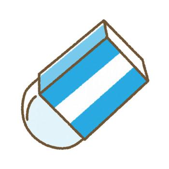 消しゴムのイラスト | 無料フリーイラスト素材集【Frame illust】
