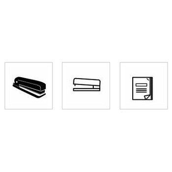 ホッチキス|シルエット イラストの無料ダウンロードサイト「シルエットAC」