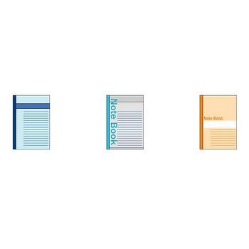 イラストポップ | 文房具のイラスト無料-ノートブックの素材