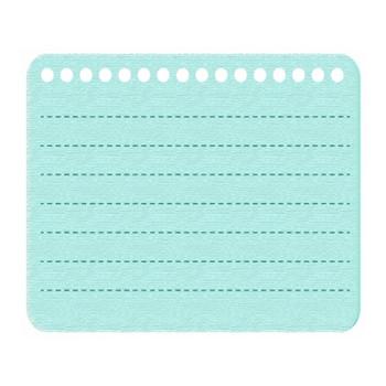 緑色のノート風フレーム飾り枠イラスト | 無料イラスト かわいいフリー素材集 フレームぽけっと