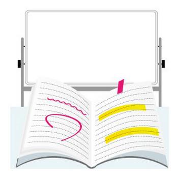 塾:ホワイトボード&ノート | フリーイラスト素材 「趣味で作ったイラストを配るサイト」