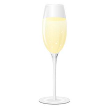 [無料イラスト] グラスに入ったシャンパン - パブリックドメインQ:著作権フリー画像素材集