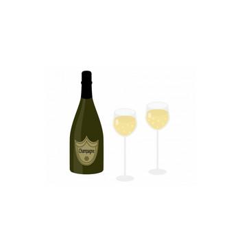 シャンパンのイラスト02 | イラスト無料・かわいいテンプレート