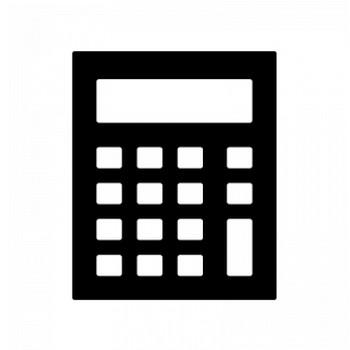 計算機・電卓のシルエット | 無料のAi・PNG白黒シルエットイラスト