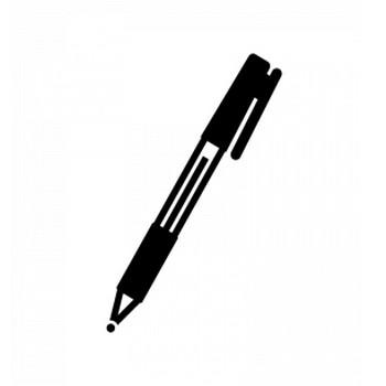 ボールペンのシルエット   無料のAi・PNG白黒シルエットイラスト