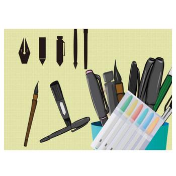 ペンのイラスト - 種類いっぱい文房具のフリー素材 - チコデザ