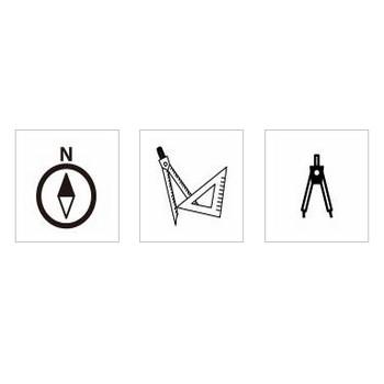 コンパス|シルエット イラストの無料ダウンロードサイト「シルエットAC」