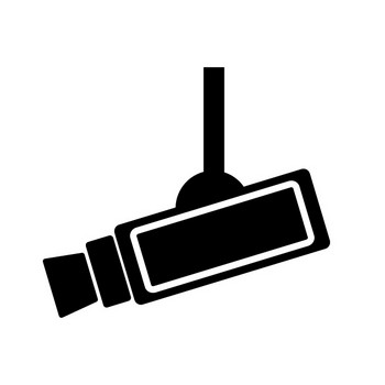 防犯カメラ | 撮影 | 不審者警戒 | ピクトグラム素材 | フリー素材 | イラスト