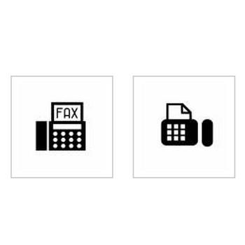 ファックス|シルエット イラストの無料ダウンロードサイト「シルエットAC」
